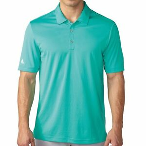 adidas-Golf-ClimaChill-Solid-Polo-Golf-Shirt-Shock-Mint-Pick-a-Size