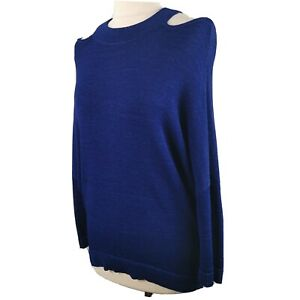 Phase-Eight-Size-M-12-14-Royal-Blue-Cold-Shoulder-Batwing-Jumper-Round-Neck