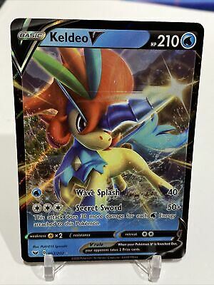 Pokemon Keldeo V 53/202 Sword And Shield Base Ultra Rare ...