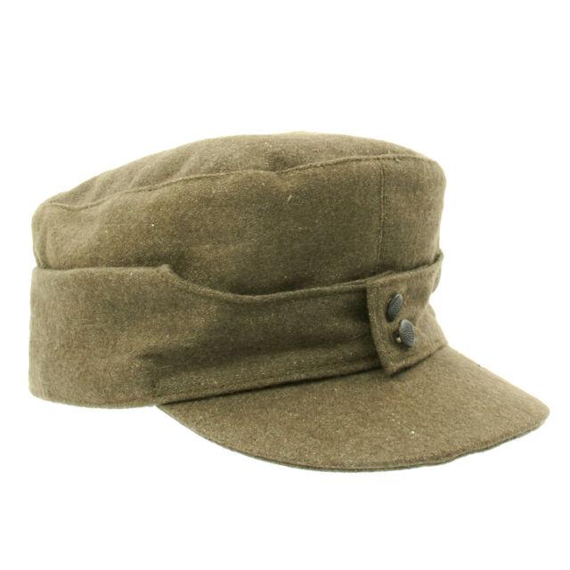 German WWII M43 Cap in Field Grey Wool- Size 7.50 (60 cm)- M43, M1943