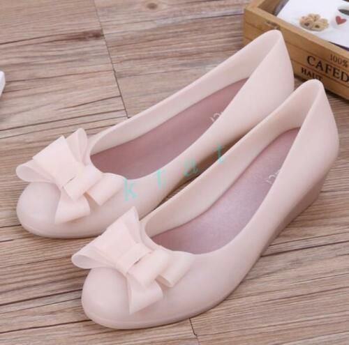 Hot Womens Bowknot Casual Flats Hidden wedge heel Creeper Pumps Slip on Loafers