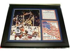 11X14 FRAMED 1980 OLYMPICS MIRACLE ON ICE TEAM PHOTO USA WIN  8X10 CELEBRATION