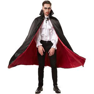 Dracula Vampir Umhang Teufel Damen Herren Halloween Fasching Kostum