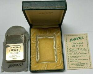Vintage Zippo 1950s Lighter | 10k Gold Filled | UNUSED in ORIGINAL BOX | RARE |
