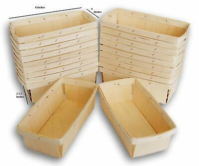 """24-WOODEN WOOD STRAWBERRY BOXES// BASKETS//TILLS  /""""PINT SIZE/"""""""