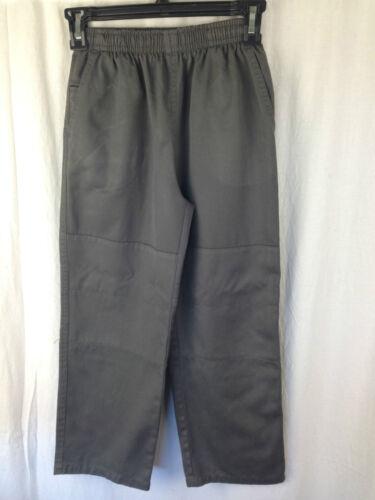 BNWT Boys Sz 16Y LW Reid Brand Dark Grey Double Knee Elastic Waist School Pants