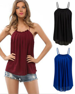 New-Women-039-s-Neck-Tie-T-shirt-Sexy-Sleeveless-Shirts-Casual-Tops-Blouse-Tank-Top