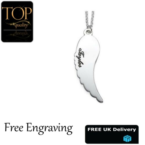 Personalised Name Necklace Heart Tree Love White Gold Plated Gift Jewellery UK