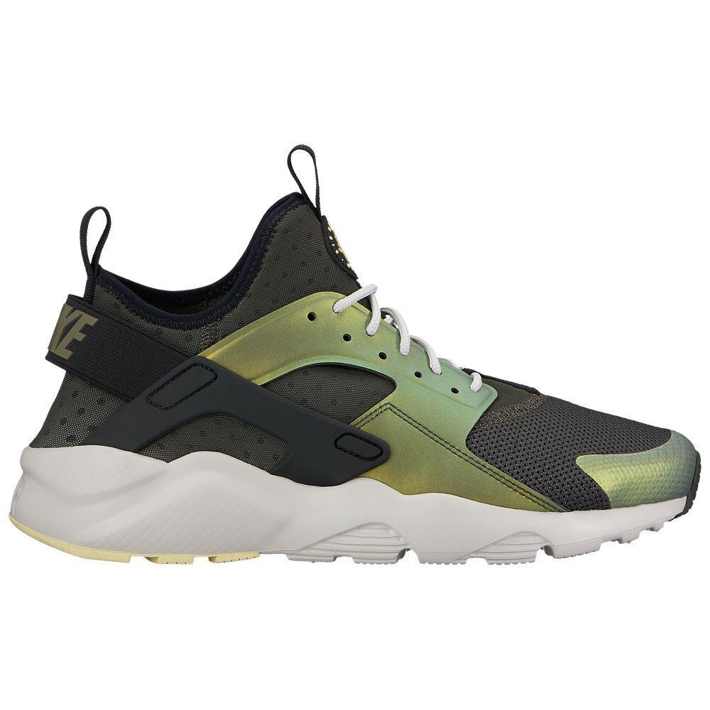 Nike Air Huarache Run Ultra SE Mens 875841-302 Sequoia Citron shoes Size 7.5