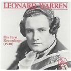 Leonard Warren: His First Recordings (1993)