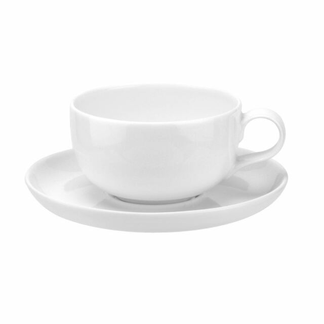 Portmeirion Choices White Coffee Cup And Saucer Pair 0 25l