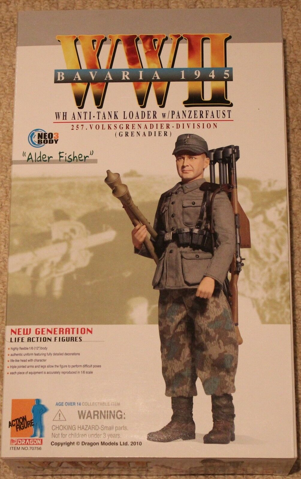 Dragon action figure 1 6 ww11 german alder 70756 12'' boxed  did cyber hot toy