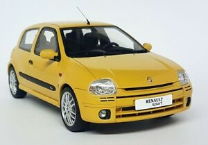 Otto-Models-1-18-Scale-Renault-Clio-RS-Sport-S2-Phase-1-Yellow-Resin-Model-Car