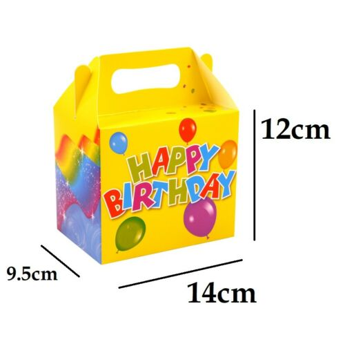 24 x BIRTHDAY PARTY LUNCH BOX Themed Party Boxes Lunch Meal Gift Bag Girls Boys