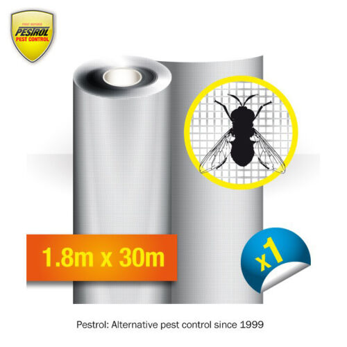 Fly screens Dark Grey Insect screens 1.8m x 30m Roll by Pestrol