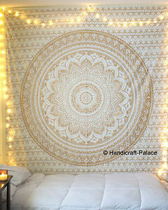 tapisserie de mandala indien hippie tenture murale boh me dor jet de lit d cor ebay. Black Bedroom Furniture Sets. Home Design Ideas
