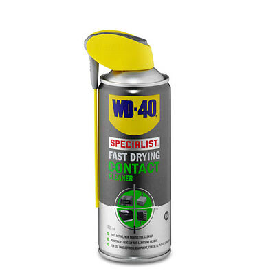 WD-40 44376 Specialist Fast Drying Contact Cleaner 400ml Smart Straw Garage