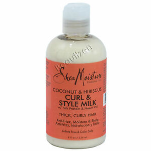 coconut curly hair styling shea moisture coconut amp hibiscus curl amp style milk thick 3195