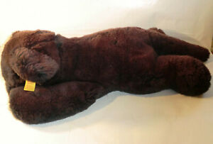 Steiff Cosy 5370/28 made in West Germany Panther Black Lying Cat 35cm Mi.1