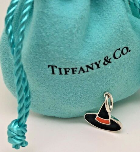 TIFFANY & CO Halloween Witch Hat Enamel Charm Pend
