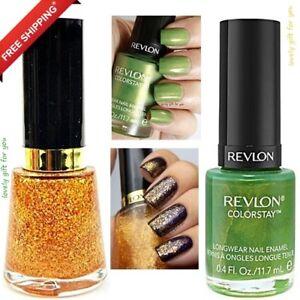 New Revlon Nail Enamel Polish Gold Goddess or ColorStay Longwear 230 ...