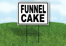Funnel Cake Black Border Yard Sign Road With Stand Lawn Sign