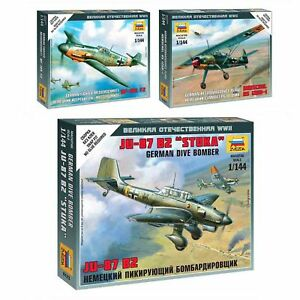 Model-Kits-034-German-aircrafts-Air-Force-1939-45-WWII-034-planes-1-144-Zvezda