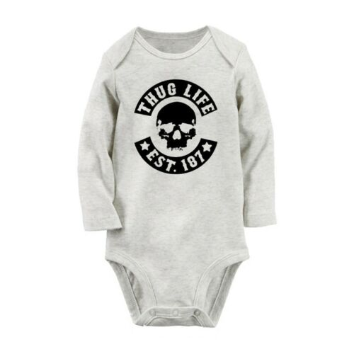 NEW THUG LIFE Newborn Baby Long Sleeve Romper Bodysuit Jumpsuit Outfits Clothes