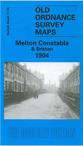 OLD ORDNANCE SURVEY MAP MELTON CONSTABLE BRISTON 1904 BURGH HALL