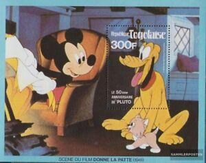 Togo Block166 kompl.ausg. Postfrisch 1980 Pluto Von Walt-disney