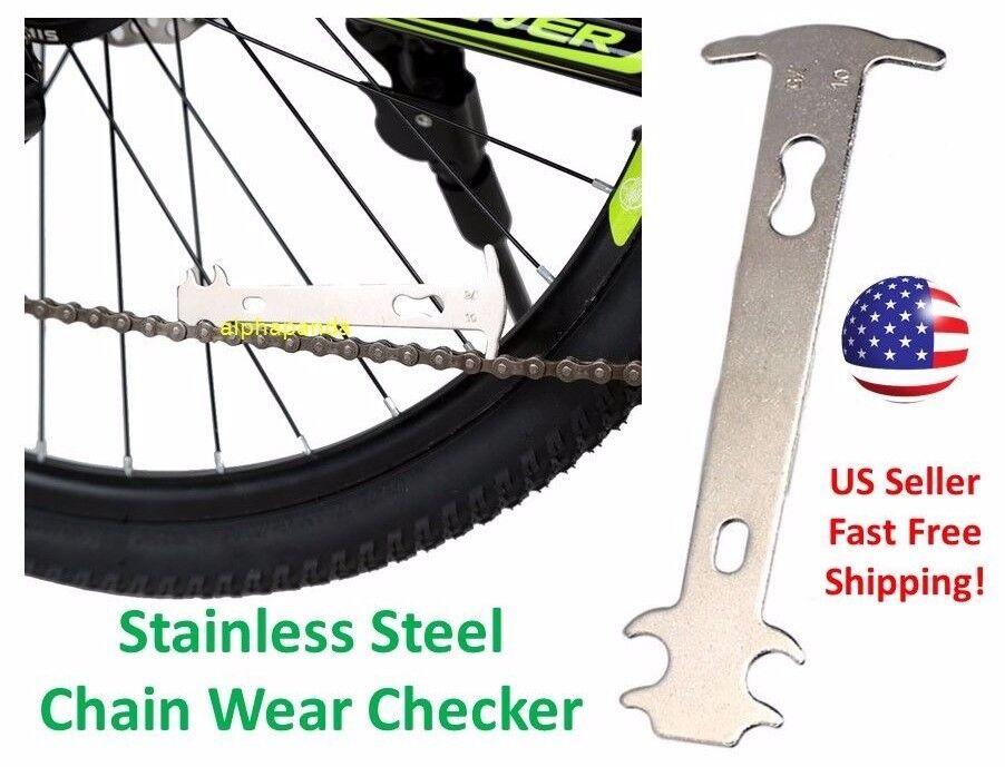 Bicycle Bike Chain Checker Wear Indicator Measure Tool Gauge Repair checker ES