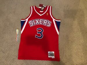 2a67f96cf97 Allen Iverson Sixers 76ers Mitchell Ness 1996-97 HWC Swingman Jersey ...