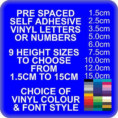 Custom Self Adhesive Vinyl Lettering Letters For Pre