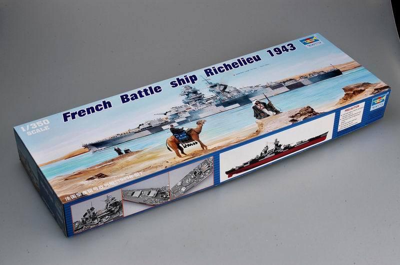 05311 Trumpeter Battleship Richelieu francesa 2018 buque de guerra Modelo Kit 1/350 Escala