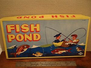 Vintage 1950 39 s fish pond board game ebay for Koi pond game online