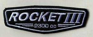 Triumph-Rocket-III-2300-cc-Embroidered-Patch-Iron-on-Sew-On-Badge