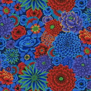 Kaffe Fassett Enchanted Floral PWGP172.COBALT Cotton Fabric BTY