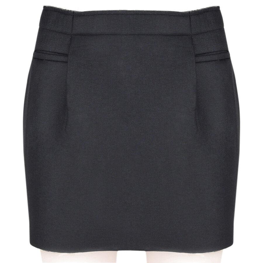 J W Anderson Slate Grey Mini Skirt UK8 IT40