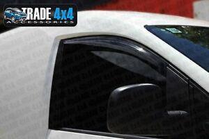 VW CADDY WIND DEFLECTORS WINDOW VISORS DARK TINT SWB CADDY MAXI LIFE 2004 -15