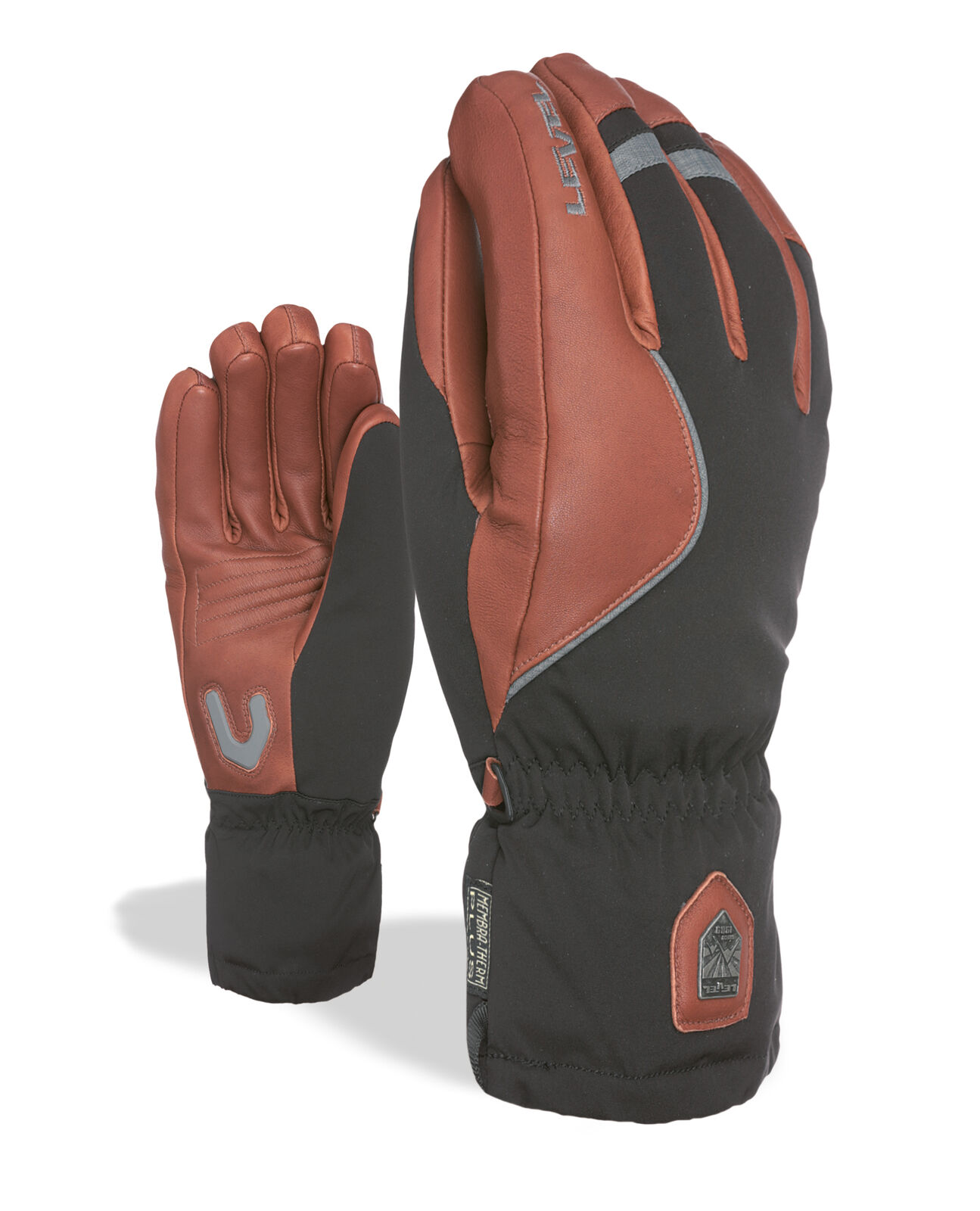 Level Guantes Off Pista brown Impermeable Transpirable Cálidos
