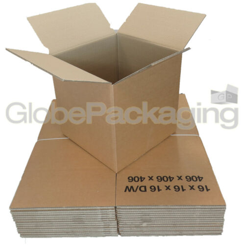 """45 DOUBLE WALL CARDBOARD PACKING MOVING BOXES 16x16x16/"""""""