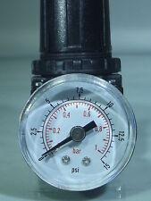 Air Regulator 6-15 psi - 1 bar max output pressure , Airbrush Regulator 1/4 BSP