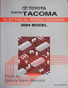 2004 toyota tacoma diagramas de cableado eléctrico manual original de  fábrica   ebay  ebay