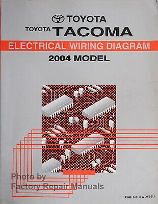2004 Toyota Tacoma Electrical Wiring Diagrams Original Factory Manual Ebay