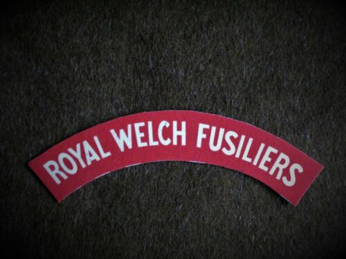 Royal Welch Fusiliers reproduction printed badges WWII Battledress