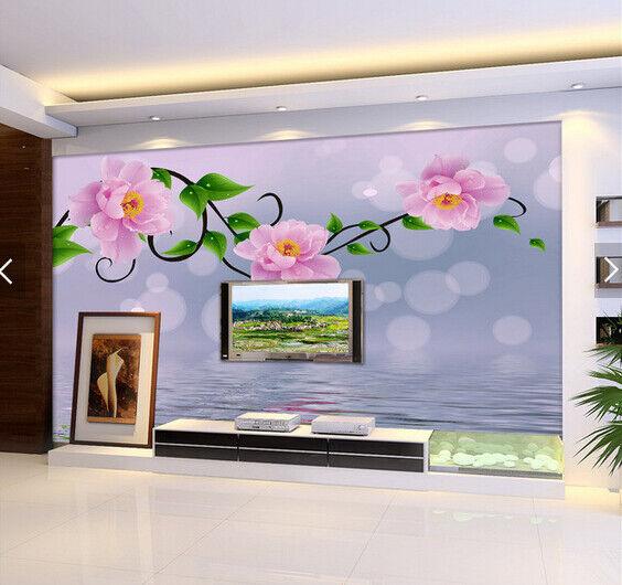 3D Pink Petals 614 Wallpaper Murals Wall Print Wallpaper Mural AJ WALL AU Kyra