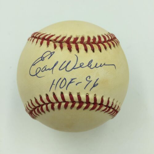 Earl Weaver Hall Of Fame 1996 Signed American League Baseball With PSA DNA COA
