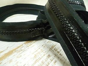 S-Lock-Waterproof-Zipper-Chunky-No-10-Open-Ended-122cm-Black-or-White