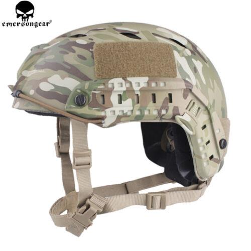 Emerson BJ Type Tactical Fast Helmet Advanced Adjustment Head Size w// Side Rail
