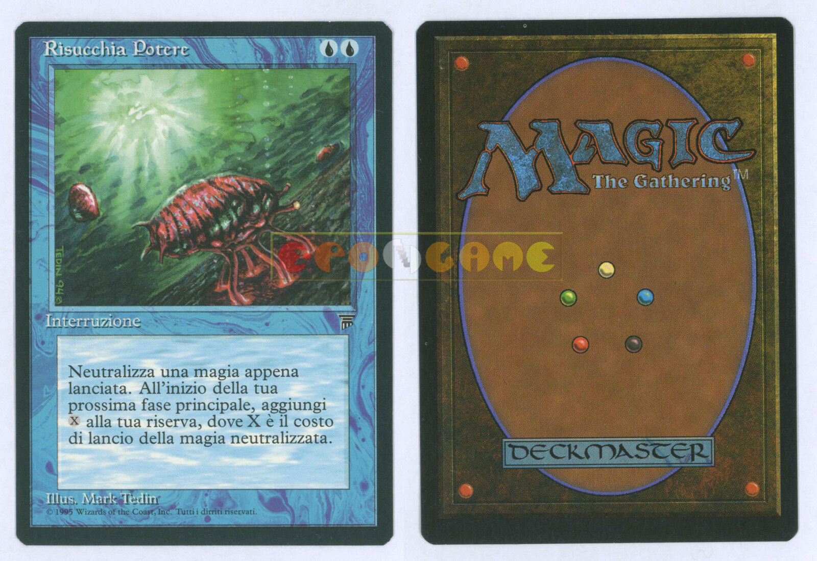 MTG Magic leading Power Mana Drain-Italian Legends Legends LEG MINT 1995